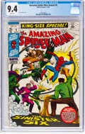 Silver Age (1956-1969):Superhero, The Amazing Spider-Man Annual #6 (Marvel, 1969) CGC NM 9.4 White pages....