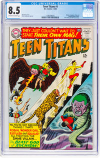 Teen Titans #1 (DC, 1966) CGC VF+ 8.5 Off-white to white pages
