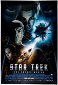 Memorabilia:Science Fiction, Star Trek Signed Double-Sided One Sheet Movie Poster (Paramount, 2009)....