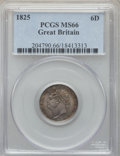 Great Britain, Great Britain: George IV 6 Pence 1825 MS66 PCGS,...