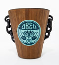 Collectible:Contemporary, Shepard Fairey (American, b. 1970). Obey ALS Ice Bucket, 2016. Hand stencil acrylic on wood with metal interior. 9-3/4 x...