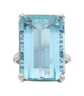 Estate Jewelry:Rings, Aquamarine, Platinum Ring, H. Stern. ...
