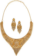 Estate Jewelry:Suites, Gold Jewelry Suite The suite features a 22k go...