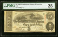Confederate Notes:1863 Issues, T60 $5 1863 PF-27 Cr. 464 PMG Very Fine 25.. ...