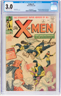 Silver Age (1956-1969):Superhero, X-Men #1 (Marvel, 1963) CGC GD/VG 3.0 Off-white to white pages....