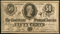 Confederate Notes:1864 Issues, T72 50 Cents 1864 PF-2 Cr. 579 Crisp Uncirculated.. ...
