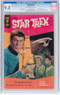 Star Trek #1 (Gold Key, 1967) CGC NM- 9.2 Off-white to white pages