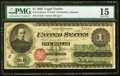 Large Size:Legal Tender Notes, Fr. 16 $1 1862 Legal Tender PMG Choice Fine 15.. ...