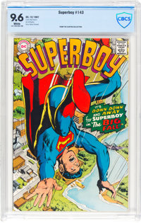 Superboy #143 (DC, 1967) CBCS NM+ 9.6 White pages