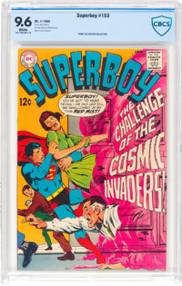 Superboy #153 (DC, 1969) CBCS NM+ 9.6 White pages