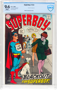 Superboy #154 (DC, 1969) CBCS NM+ 9.6 White pages