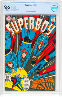Superboy #155 (DC, 1969) CBCS NM+ 9.6 White pages