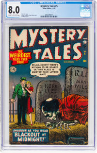 Mystery Tales #5 (Atlas, 1952) CGC VF 8.0 Cream to off-white pages