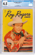 Golden Age (1938-1955):Western, Roy Rogers Comics #1 (Dell, 1948) CGC VG+ 4.5 Off-white to white pages....