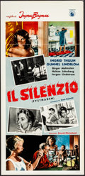 """Movie Posters:Foreign, The Silence (I.N.D.I.E.F., 1964). Folded, Very Fine-. Italian Locandina (13"""" X 27.5""""). Foreign...."""