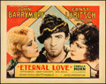 "Movie Posters:Romance, Eternal Love (United Artists, 1929). Fine on Paper. Half Sheet (22"" X 28""). Romance...."