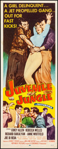 "Movie Posters:Crime, Juvenile Jungle (Republic, 1958). Folded, Fine/Very Fine. Insert (14"" X 36""). Crime...."