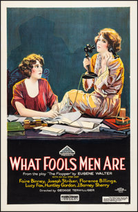 """What Fools Men Are (American Releasing Corp., 1922). Very Fine- on Linen. One Sheet (26.5"""" X 40.5"""") Style B. D..."""