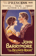 """Movie Posters:Adventure, The Beloved Rogue (United Artists, 1927) Very Good+ on Foam-Core Board. Window Card (14"""" X 22""""). Adventure...."""