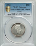 Coins of Hawaii , 1883 25C Hawaii Quarter -- Altered Surfaces -- PCGS Genuine GoldShield. AU Details. NGC Census: (33/1239 and 0/9+). PCGS P...