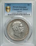 Coins of Hawaii , 1883 $1 Hawaii Dollar -- Cleaning -- PCGS Genuine Gold Shield. AU Details. NGC Census: (38/210 and 0/3+). PCGS Population: ...