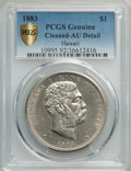 Coins of Hawaii , 1883 $1 Hawaii Dollar -- Cleaning -- PCGS Genuine Gold Shield. AUDetails. NGC Census: (38/210 and 0/3+). PCGS Population: ...