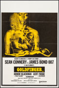 """Movie Posters:James Bond, Goldfinger (United Artists, R-1969). Folded, Very Fine. British Double Crown (20"""" X 30""""). James Bond...."""
