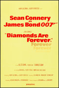 "Movie Posters:James Bond, Diamonds are Forever (United Artists, R-1970s). Folded, Very Fine. British Double Crown (20"" X 30""). James Bond...."
