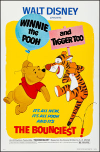 """Winnie the Pooh and Tigger Too! & Other Lot (Buena Vista, 1974). Flat Folded, Very Fine+. One Sheets (2) (27"""" X..."""