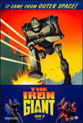 "Movie Posters:Animation, The Iron Giant (Warner Brothers, 1999). Rolled, Very Fine+. OneSheet (27"" X 40"") DS, Advance. Animation...."