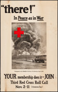 """Movie Posters:War, World War I Propaganda (American Red Cross, 1919). Rolled, Fine+. Poster (19"""" X 30"""") """"'There!' In Peace as in War."""" War.. ..."""