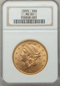 1893 $20 MS63 NGC. NGC Census: (1315/80). PCGS Population: (1100/132). CDN: $1,800 Whsle. Bid for problem-free NGC/PCGS...