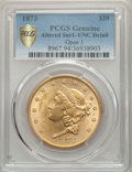 Liberty Double Eagles, 1873 $20 Open 3 -- Altered Surfaces -- PCGS Genuine Secure. Unc Detail. NGC Census: (1117/3535 and 1/106+). PCGS Population...
