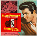 "Movie Posters:Elvis Presley, Jailhouse Rock (MGM, 1957). Folded, Very Fine-. Six Sheet (80"" X79""). Bradshaw Crandell Artwork.. ..."