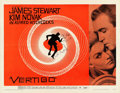 "Movie Posters:Hitchcock, Vertigo (Paramount, 1958). Very Fine on Paper. Half Sheet (22"" X 28"") Style A, Saul Bass Artwork.. ..."