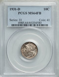 Mercury Dimes: , 1931-D 10C MS64 Full Bands PCGS. PCGS Population: (358/670). NGC Census: (93/215). CDN: $215 Whsle. Bid for problem-free NG...