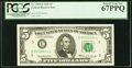 Low Serial Number 6624 Fr. 1969-E $5 1969 Federal Reserve Note. PCGS Superb Gem New 67PPQ