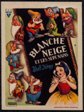 """Movie Posters:Animation, Snow White and the Seven Dwarfs (RKO, 1938) Very Fine/Near Mint. Belgian Herald (4.25"""" X 5.5""""). Animation...."""