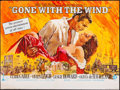 "Movie Posters:Academy Award Winners, Gone with the Wind (MGM, R-1968) Folded, Fine/Very Fine. British Quad (30"" X 40"") Howard Terpning Artwork. Academy Award Win..."