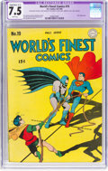 Golden Age (1938-1955):Superhero, World's Finest Comics #19 (DC, 1945) CGC Apparent VF- 7.5 Slight to Moderate (A-2) White pages....