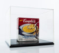 Collectible:Print, Andy Warhol (1928-1987). Untitled (Campbell's Noodle Soup Box), 1986. Works on paper, and black marker on store bought C...