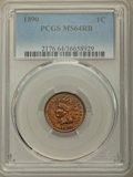 Indian Cents: , 1890 1C MS64 Red and Brown PCGS. PCGS Population: (317/67). NGC Census: (216/77). CDN: $250 Whsle. Bid for problem-free NGC...