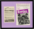 Music Memorabilia:Memorabilia, Beatles Framed First Issue of The Beatles Book Promotional Poster and Flyer (UK, 1963)....