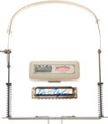 Music Memorabilia:Instruments, Bob Dylan Owned and Signed Harmonica and Neckstand (1994). ...