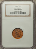 Indian Cents: , 1904 1C MS64 Red NGC. NGC Census: (171/153). PCGS Population: (361/337). MS64. Mintage 61,328,016. ...