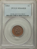 Indian Cents: , 1883 1C MS64 Red and Brown PCGS. PCGS Population: (334/120). NGC Census: (171/125). CDN: $220 Whsle. Bid for problem-free N...