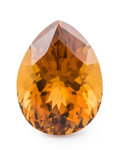 Gems:Faceted, Gemstone: Citrine - 18.44 Cts.. Africa. 20.09 x 15.06 x 12.17 mm. ...