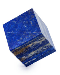 Lapis Cube Afghanistan 2.64 x 2.63 x 2.61 inches (6.70 x 6.69 x 6.62 cm)