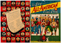 The Big All-American Comic Book Primary-Source Cover Proof and Distributor's Letter (DC Comics, 1944)