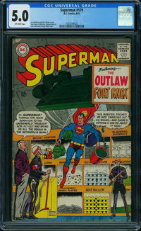 Superman #179 (DC, 1965) CGC VG/FN 5.0 OFF-WHITE pages